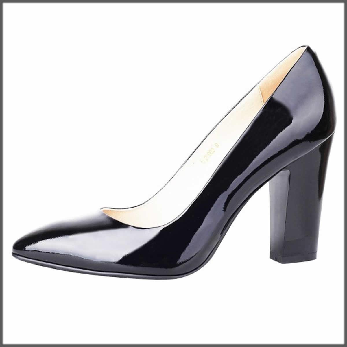black chunky coat shoes