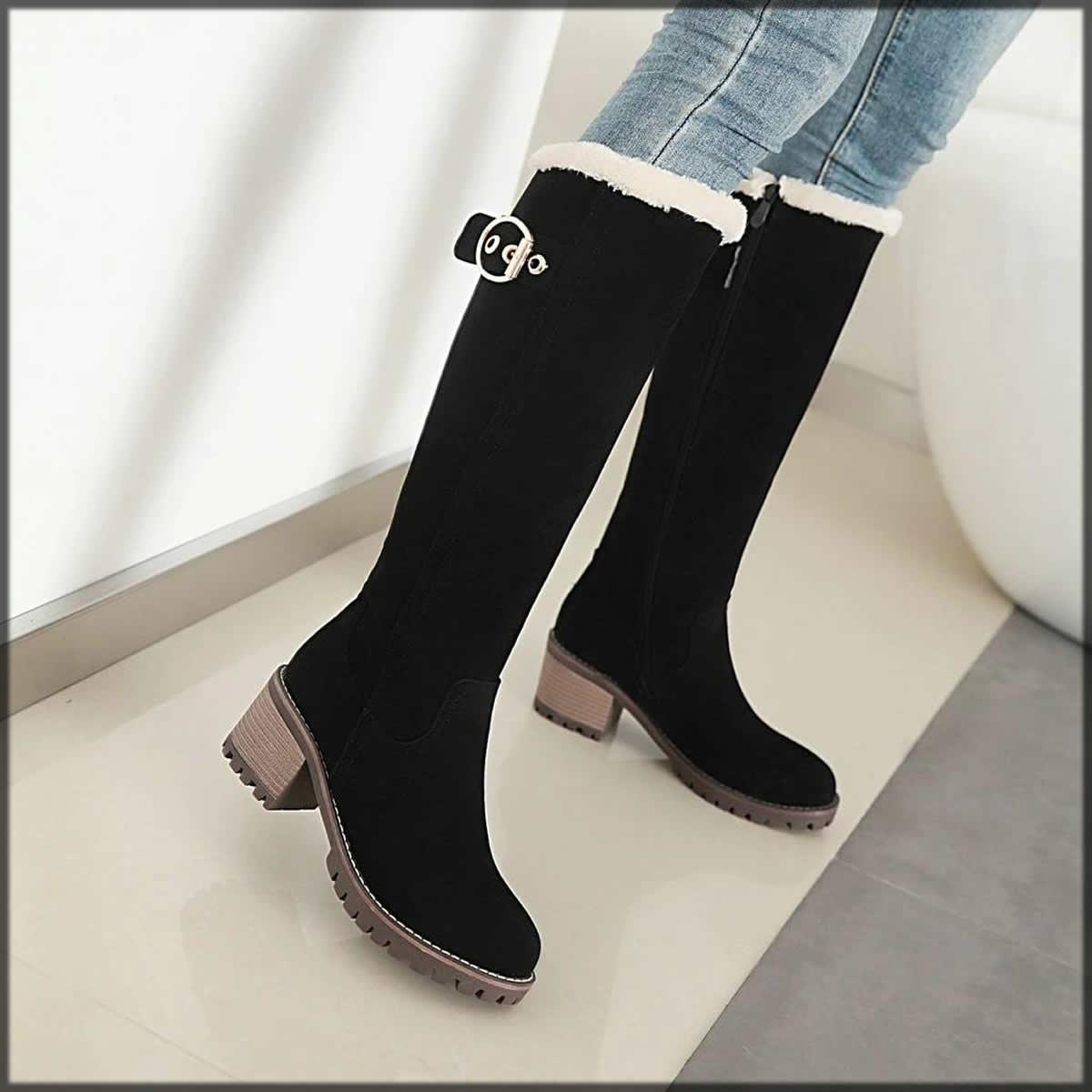 black snow shoes