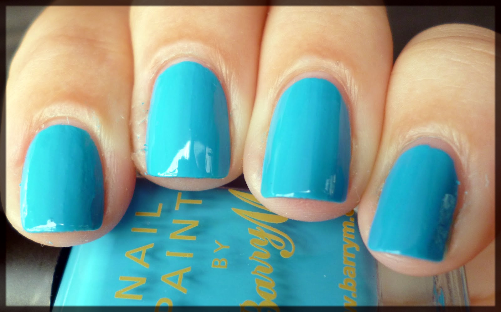blue fall winter nail color