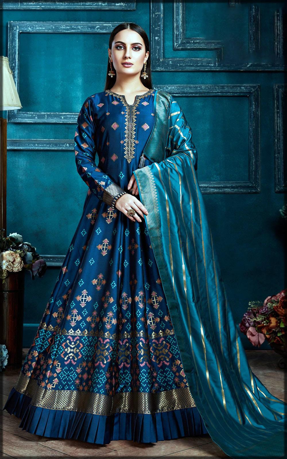 blue party wear dress