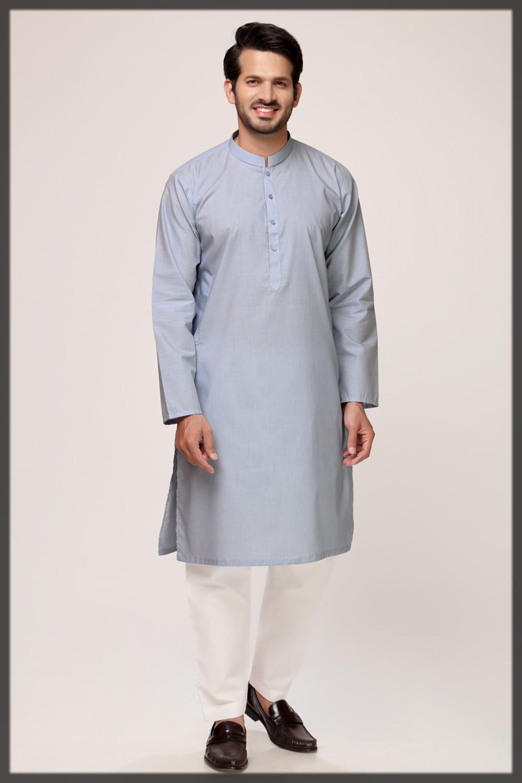 blue shaded summer attire by gul ahmed