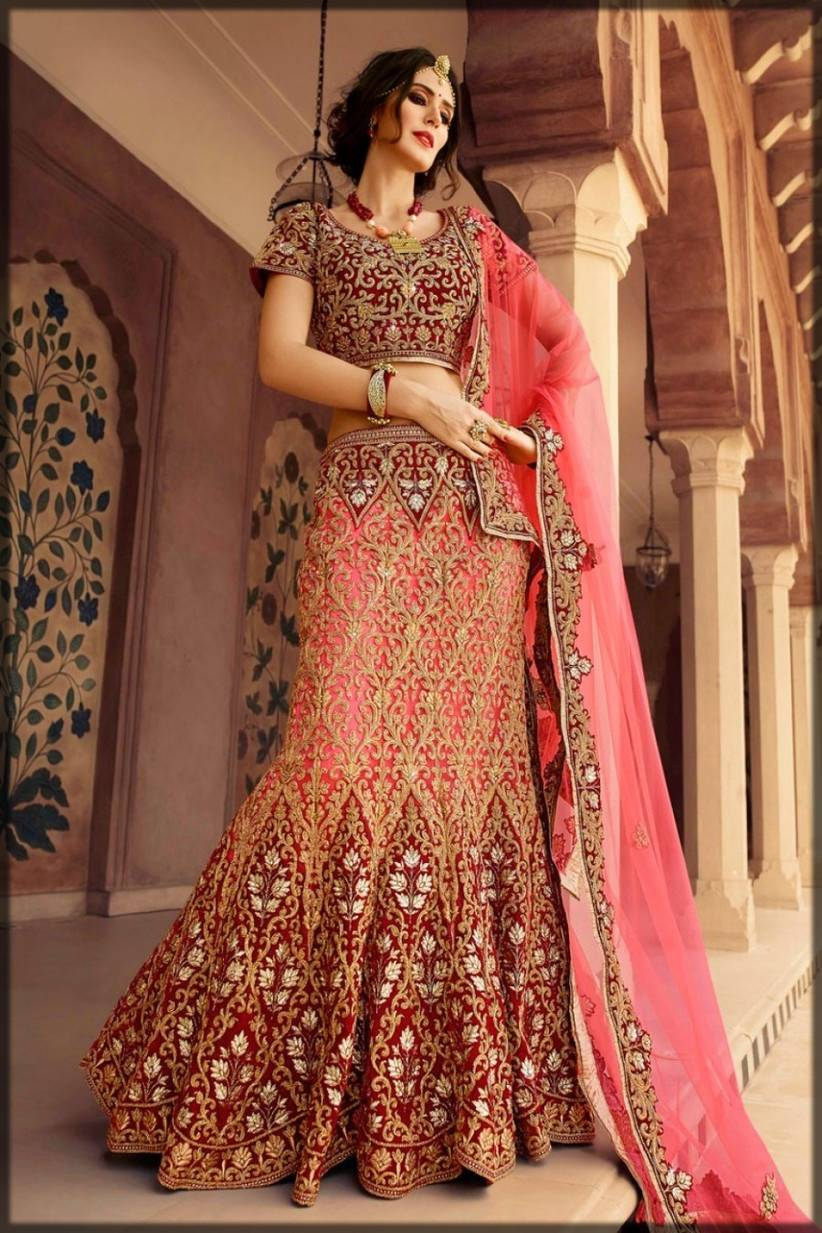 bridal fishtail indian lehenga with choli