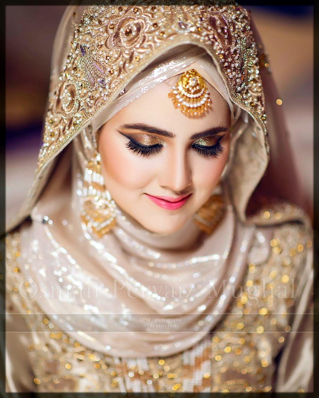 bridal makeup with hijab
