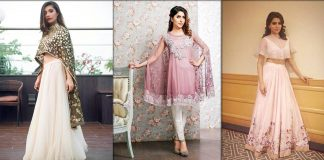 Latest Pakistani Cape Style Dresses Trending in 2021 - Best Collection