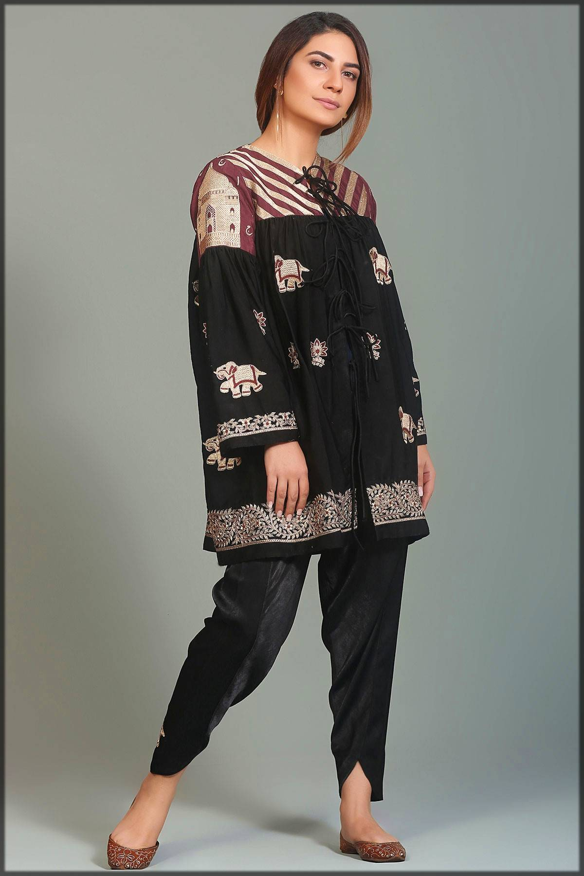 casual wear frock with shalwar