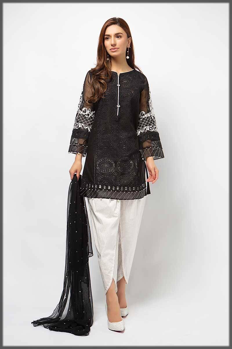 decent black and white dress