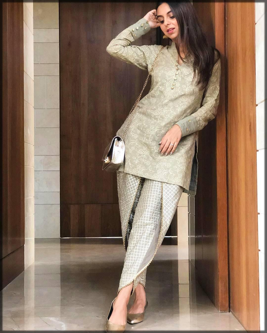 casual wear dress in grey