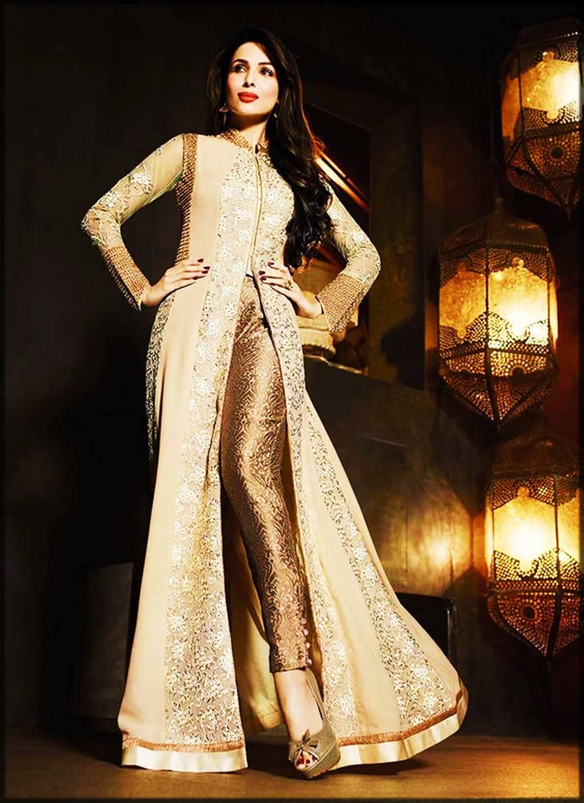 cream designer gown