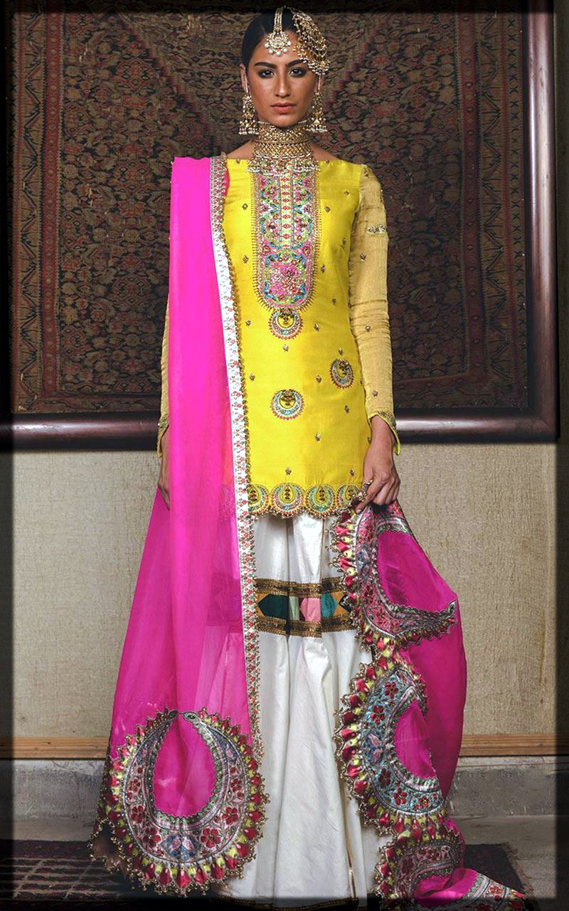 dazzling yellow outfit for bridal