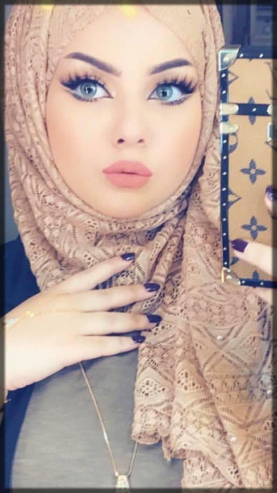 decent arabic style makeup for hijabians