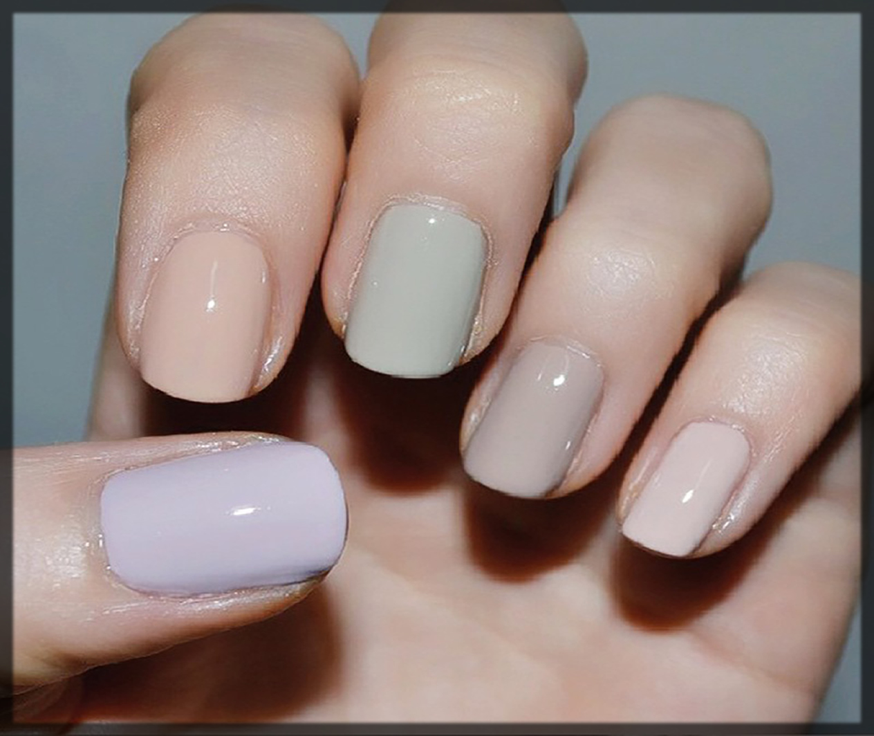 different shaded nail polish for winter