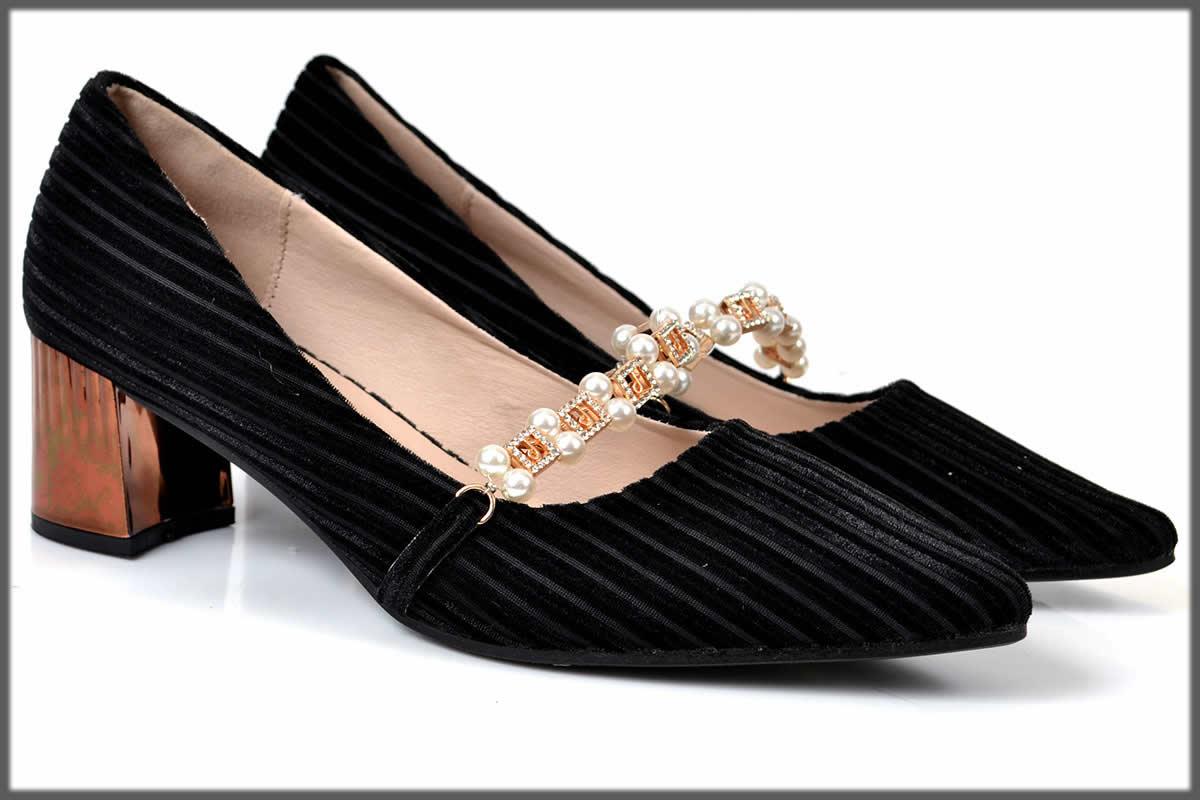 elegant black Winter Shoes For Women