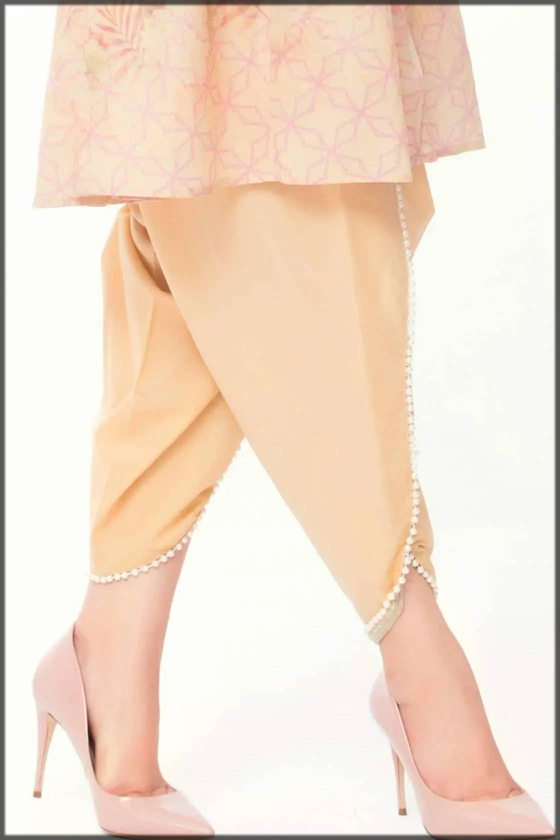 elegant tulip pant with pearls