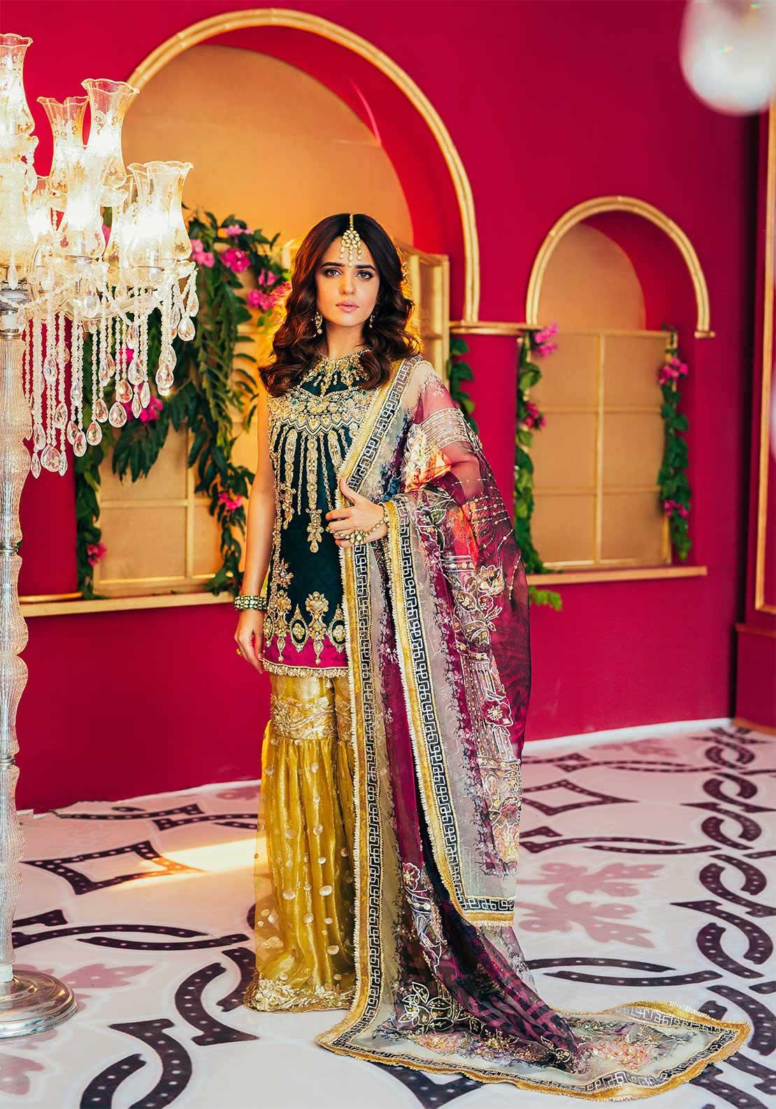 embellished gharara by Saira Rizwan Bridal Collection