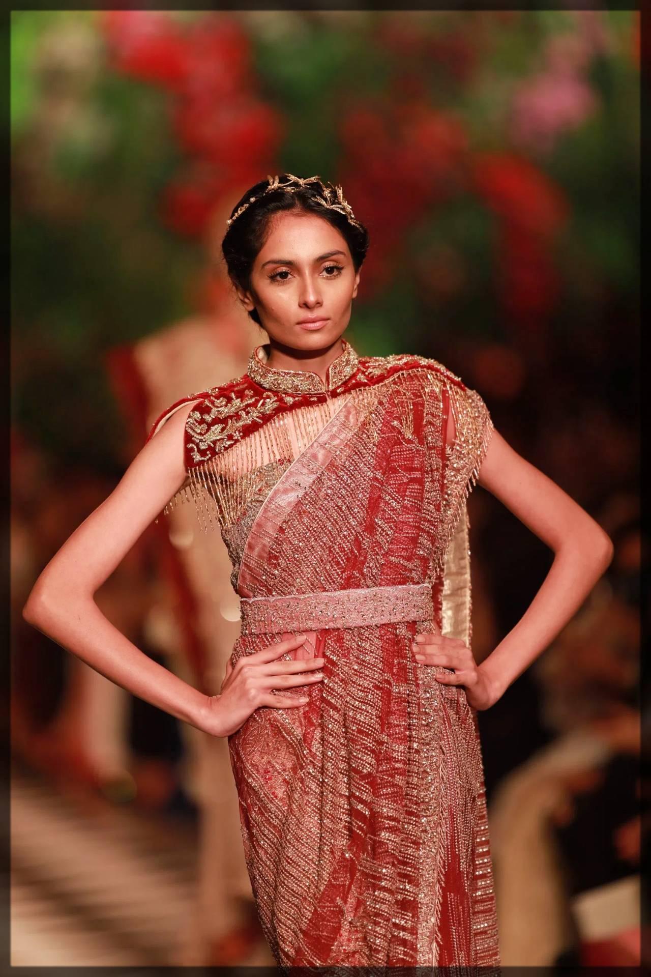 exclusive fancy saree for brides