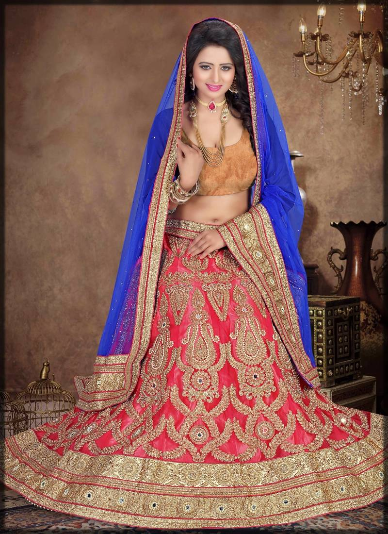 fancy lehenga with plain velvet blouse