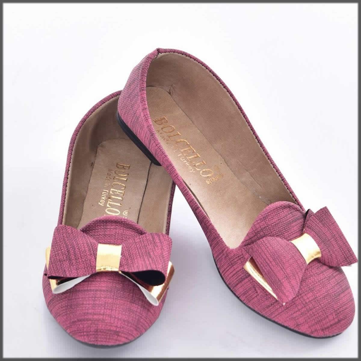 Pink footwear for teens