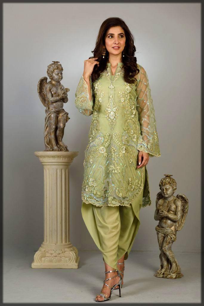formal wear dress in green