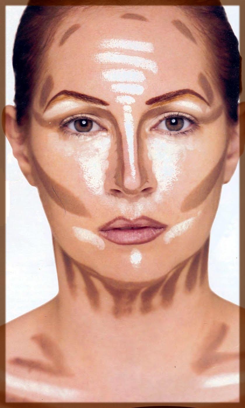 girl contouring face