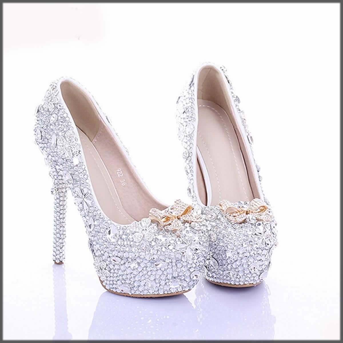 glittery silver Winter Shoes For Women
