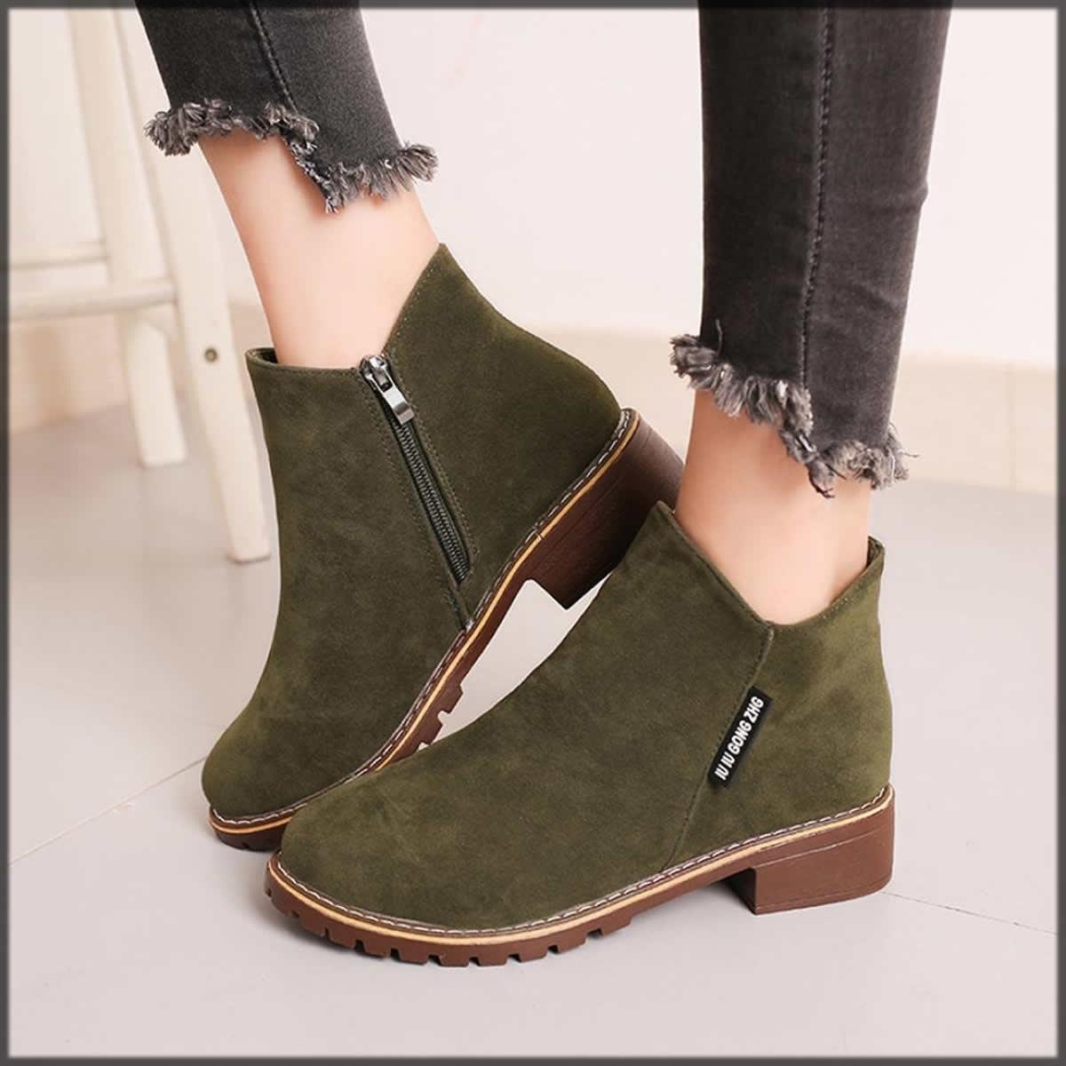 green hemlock shoes
