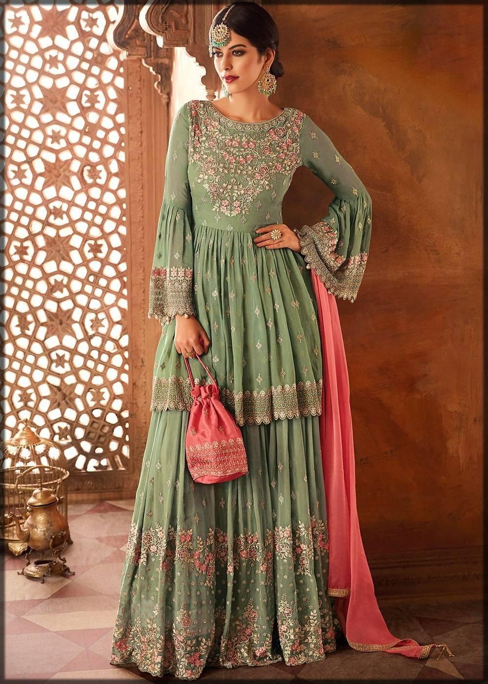 bridal sharara dress for walima