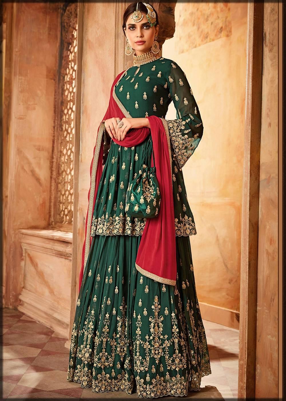 bridal sharara dress with frock