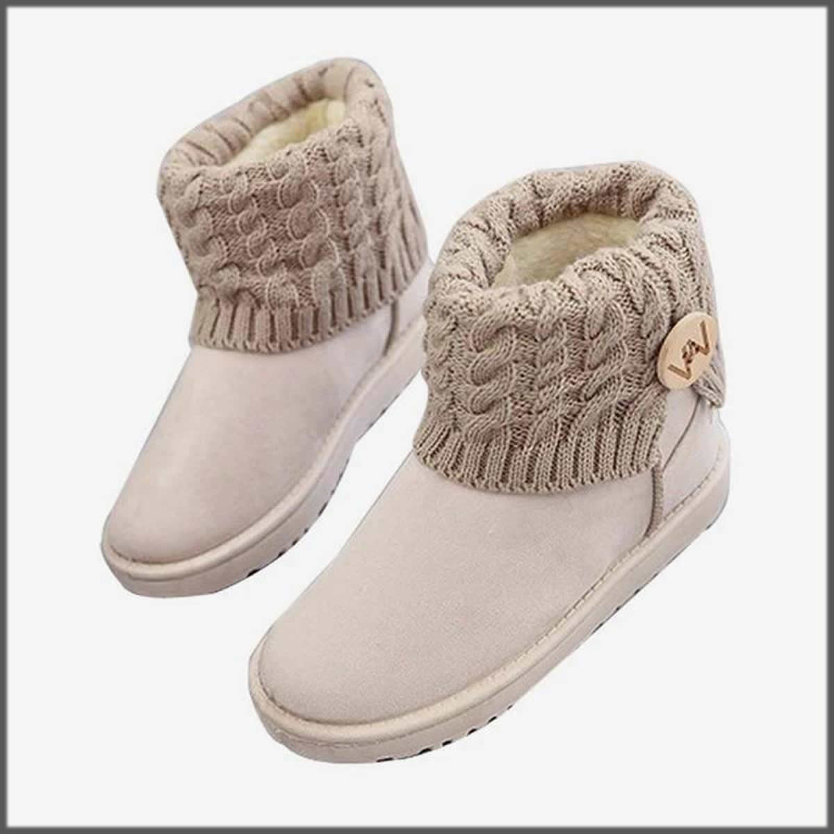 grey snow Winter Shoes For Women