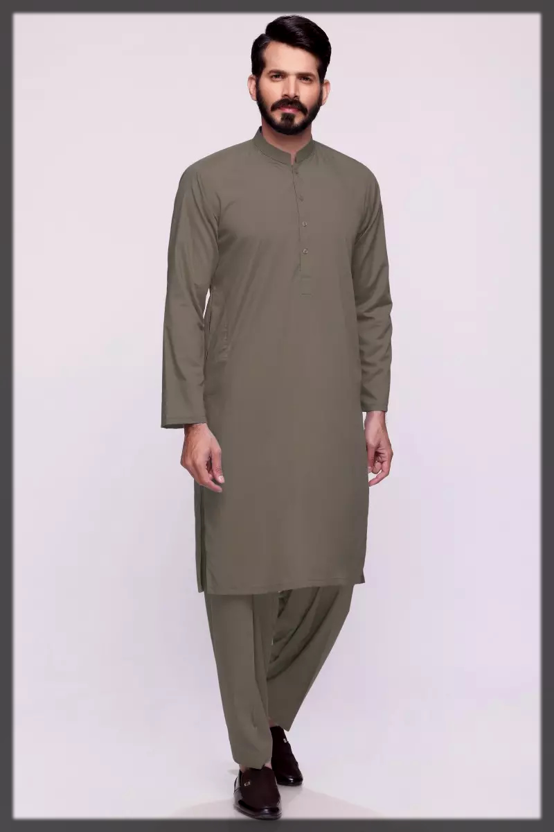 grey summer dress for men