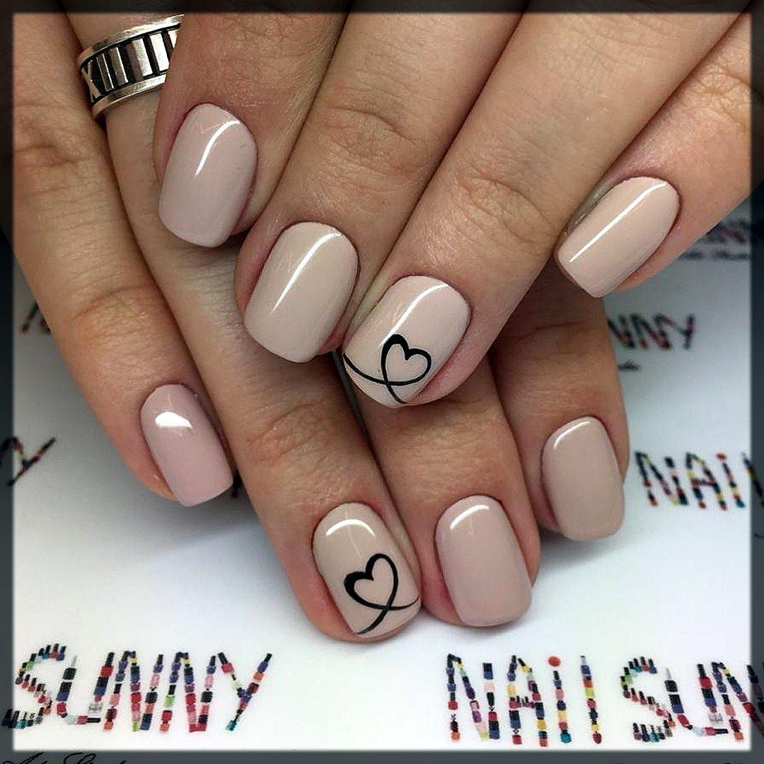 heart winter nail art designs