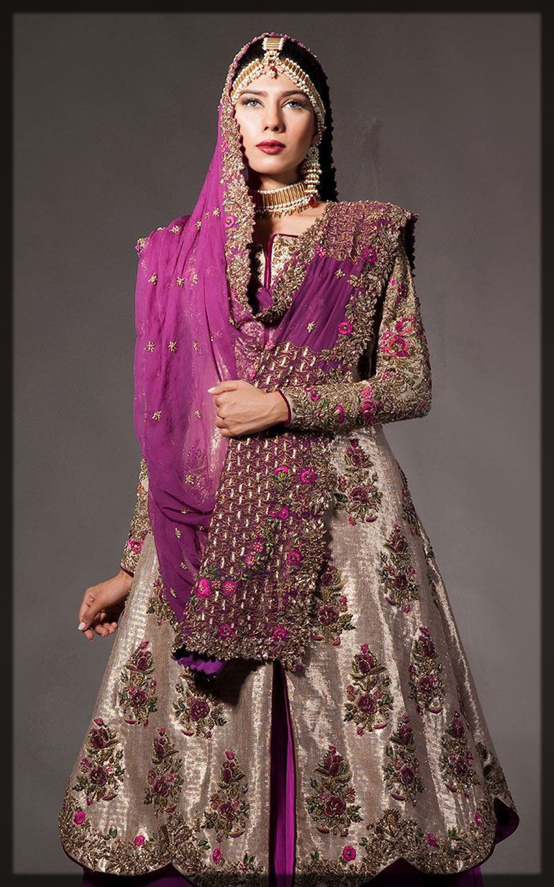heavily emboridered bridal outfit