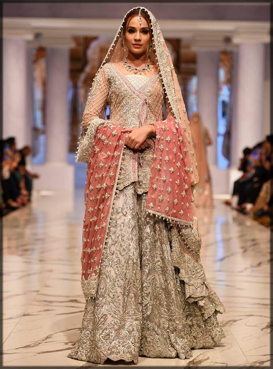 heavily embroidered sharara dress for walima