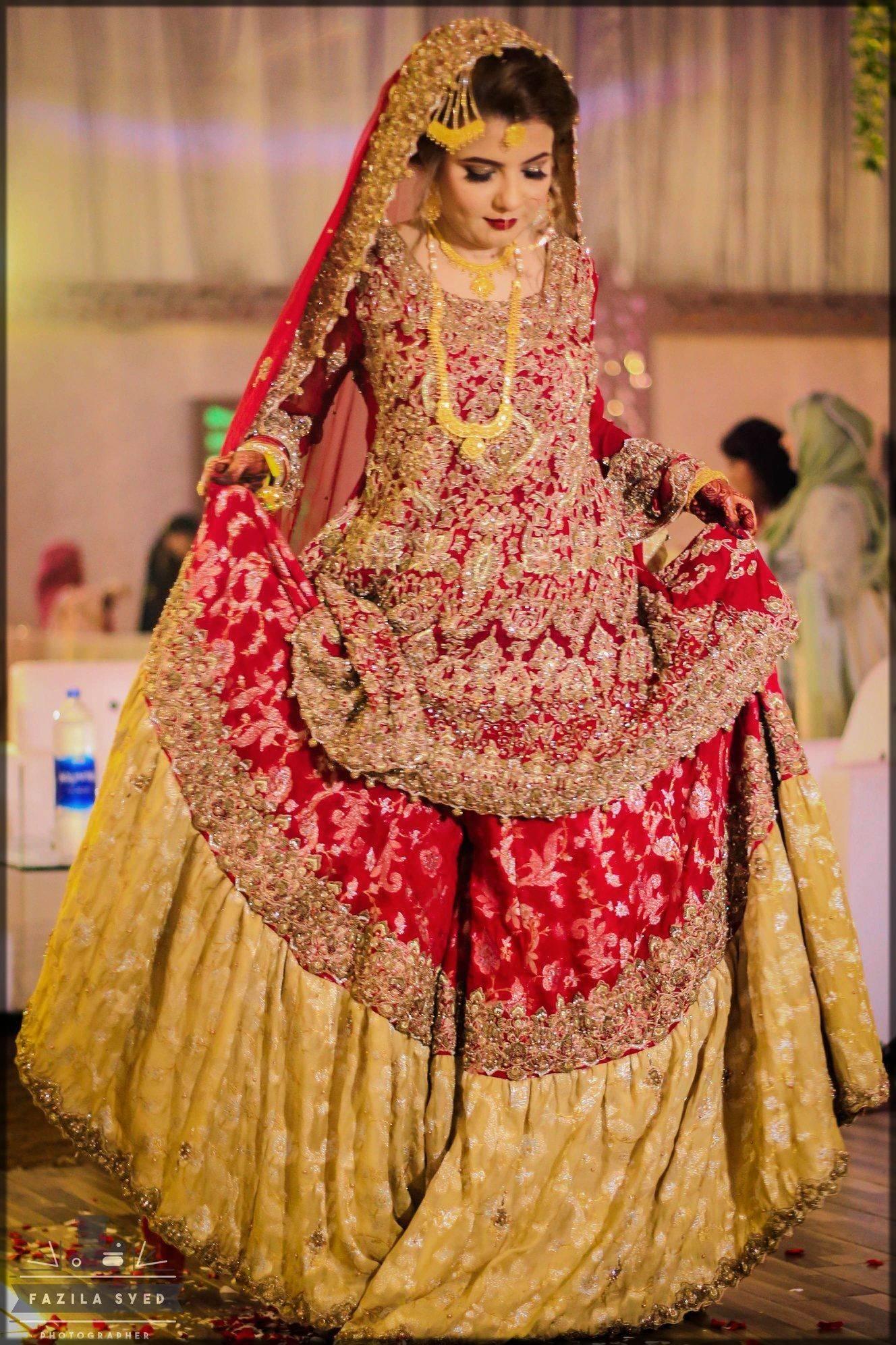 heavy bridal sharara dress