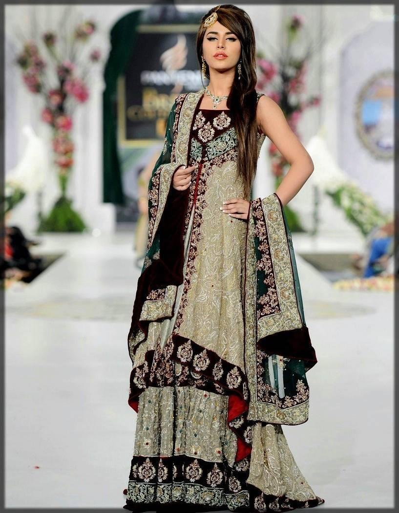 heavy bridal sharara dress for walima