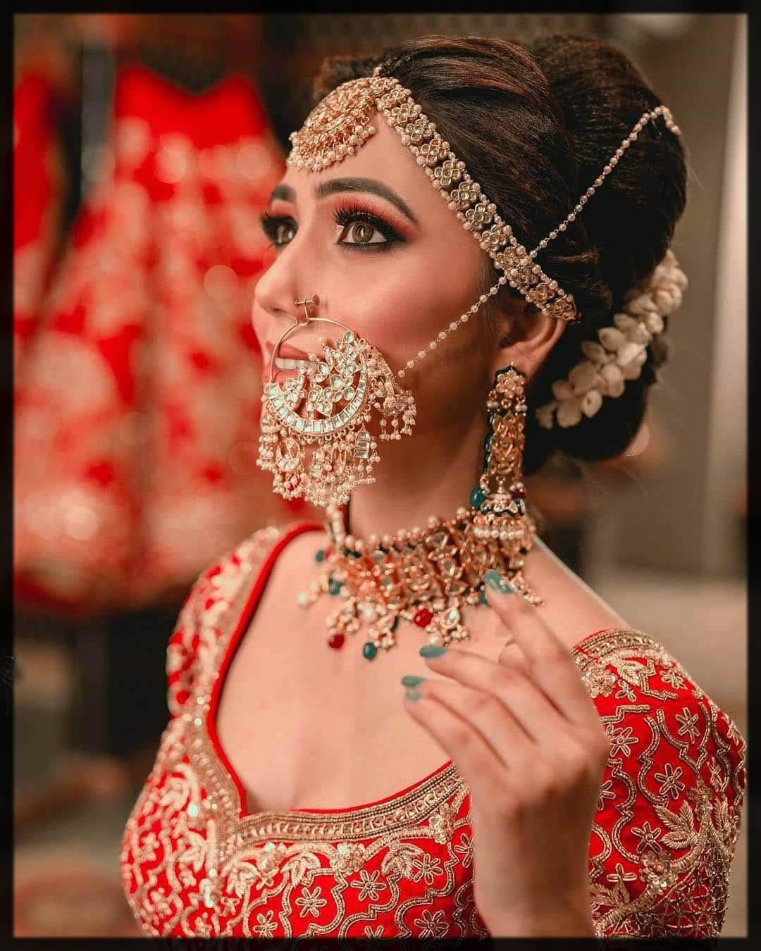 heavy nath for bride