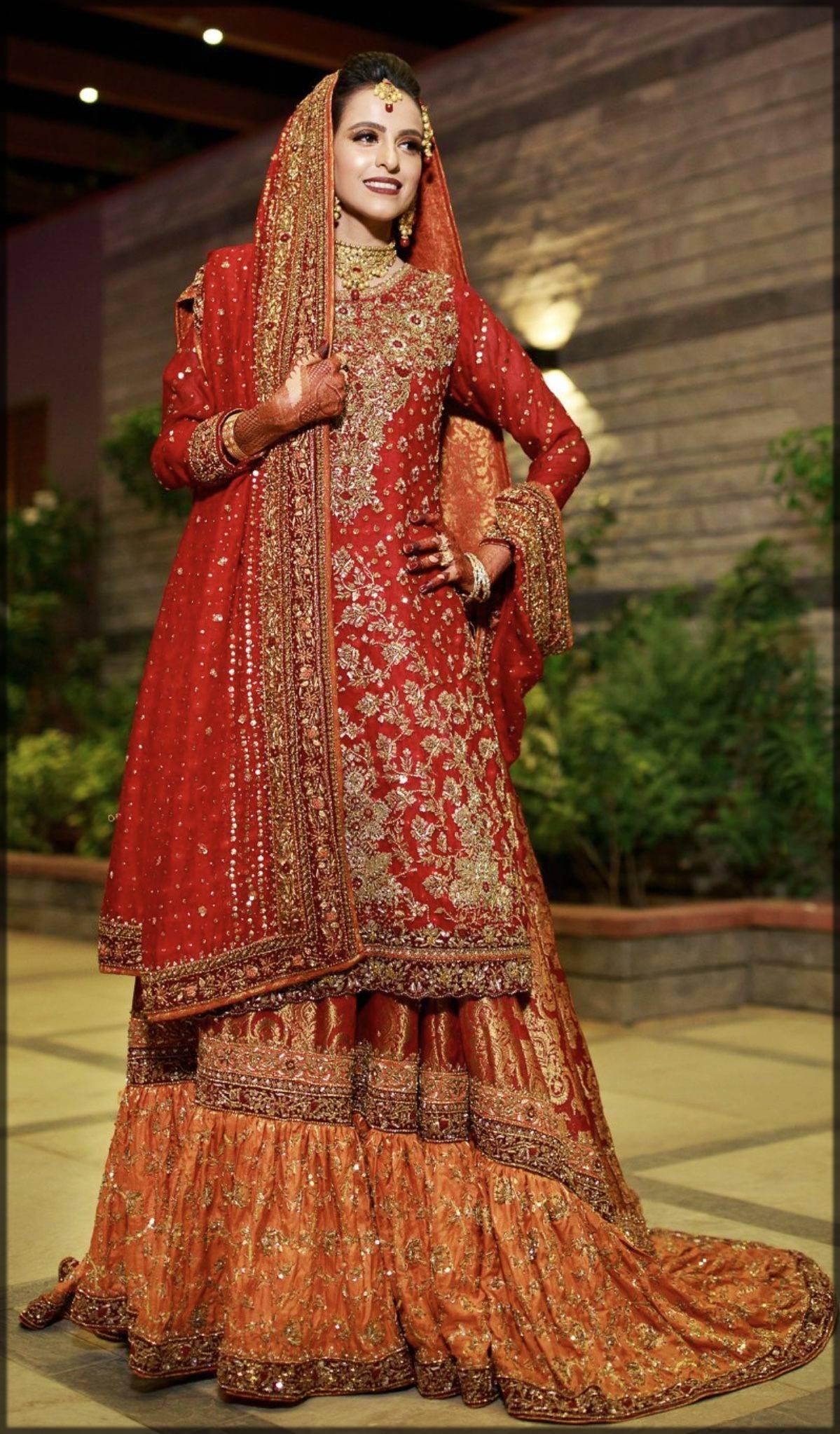 bridal sharara dress for baraat