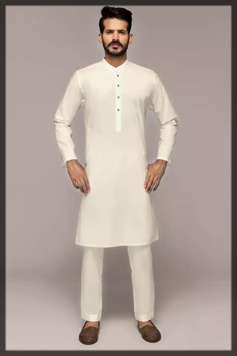 impressive white gul ahmed summer suit fo rmen