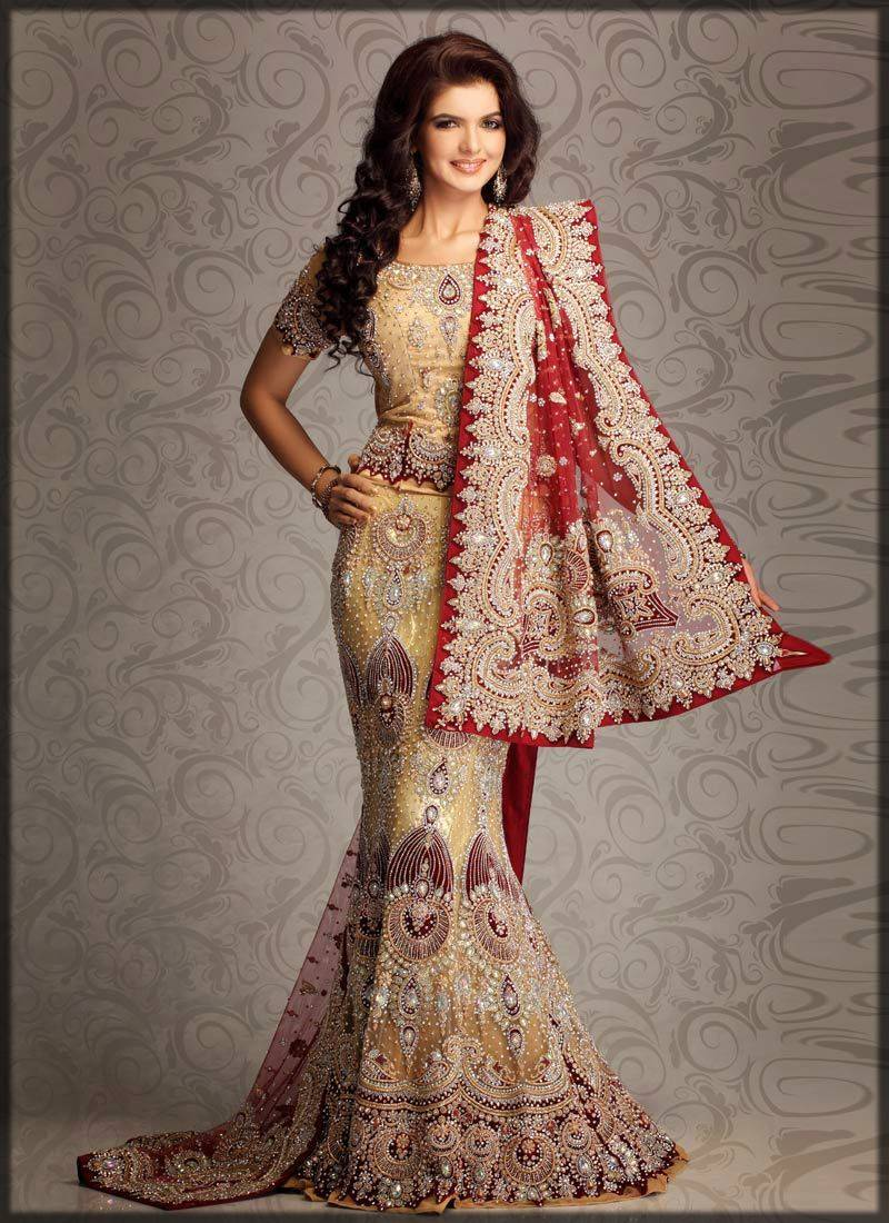indian fishtail lehenga with choli