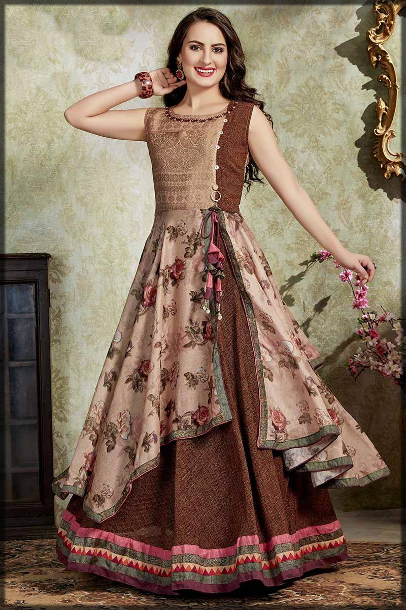 innovative style long frock for ladies