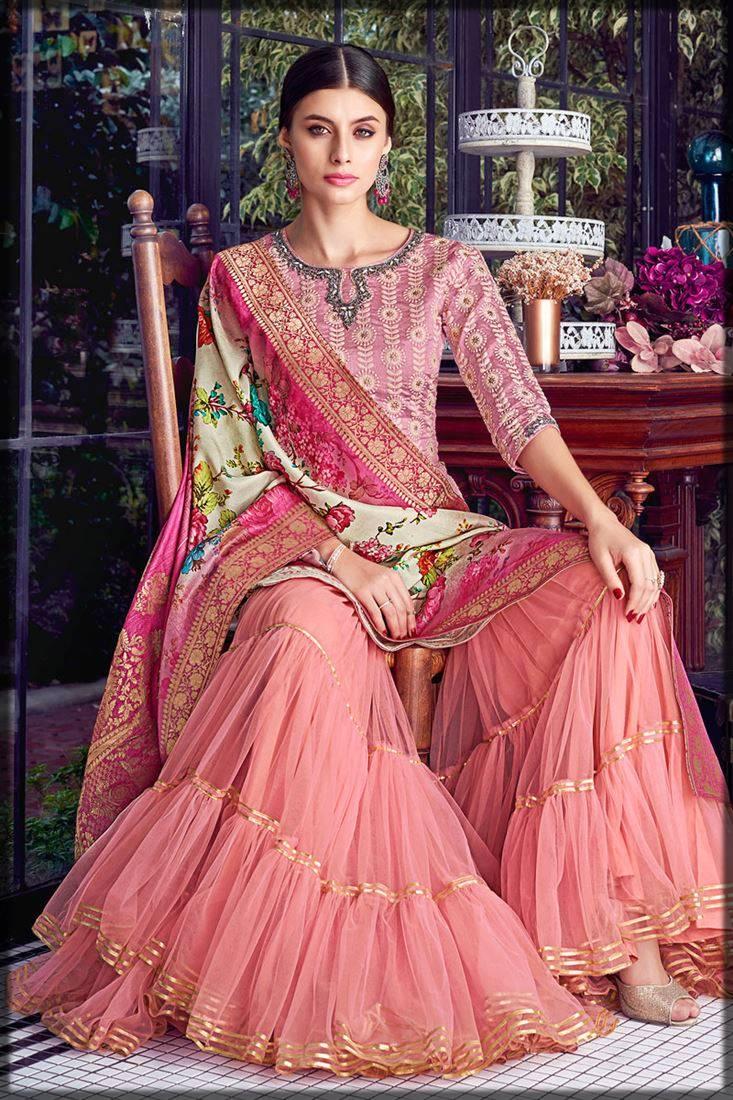 lakhnavi style sharara for mayun