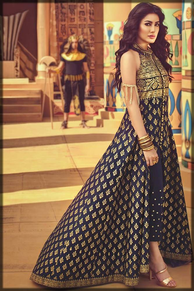latest pakistani long frock design for ladies