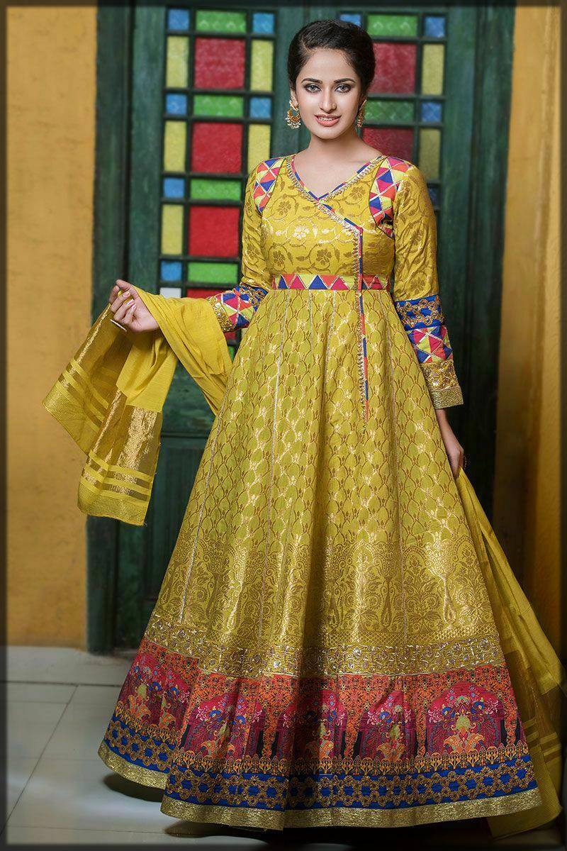 traditional long frock for asian ladies