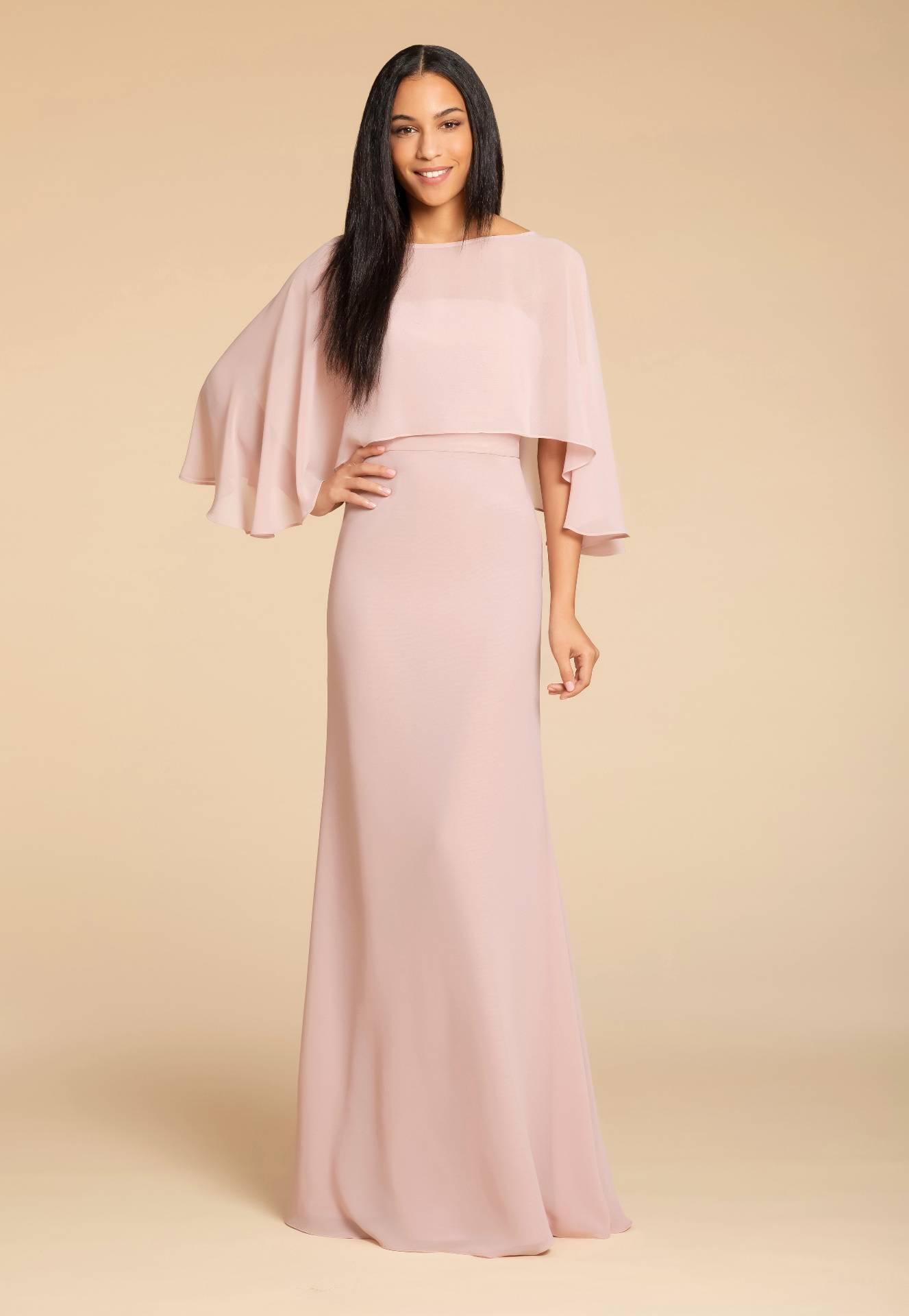 long plain cape gown