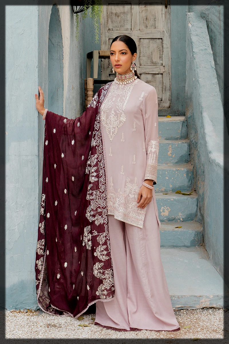 luxury pink summer suit for ladies