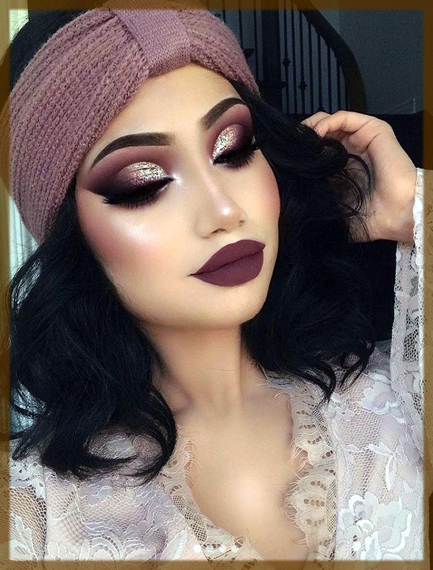 maroon winter makeup tips