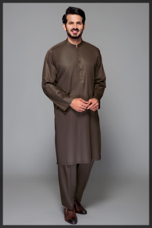 mehndi hues 2pc suit for men