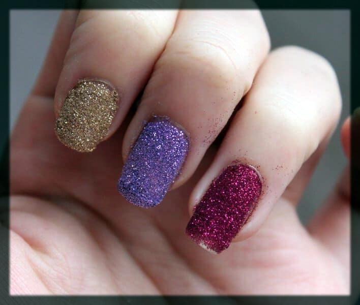 multi color glitter art