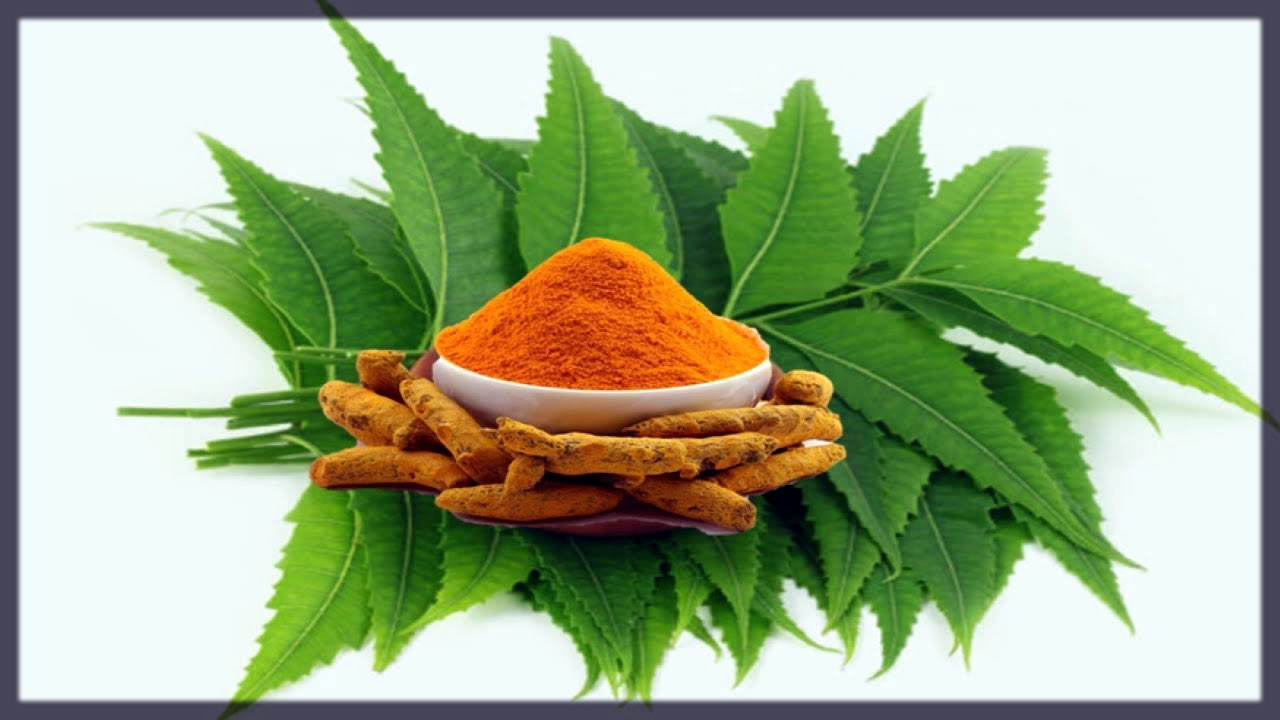 homemade neem and tumeric face pack