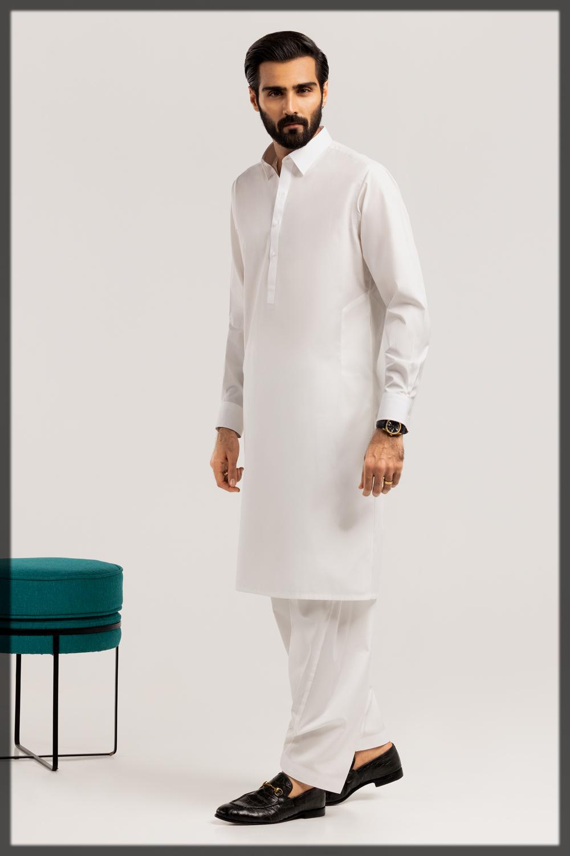 off white summer suit for men