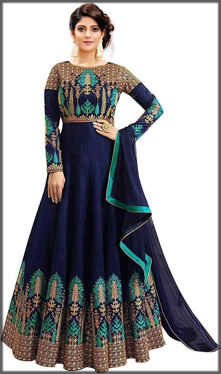 pakistani style partywear long frock